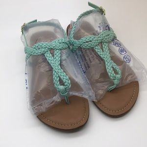 Slightly worn Merona baby blue sandals